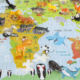 Toy For Kids 24pcs Mini Animal Model Figure DIY World Map Jigsaw Puzzle Mat STEM Educational Plastic Toy For Kids
