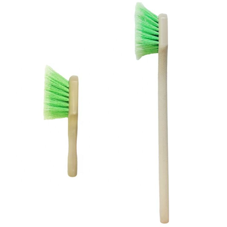 Green Car Wheel Detail Wash Brush With Plastic Handle