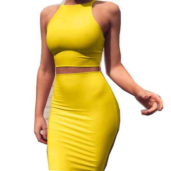 Bandage Dress 2019 Red Summer Women Dress Elegant Mini Club Party two piece set women clothing