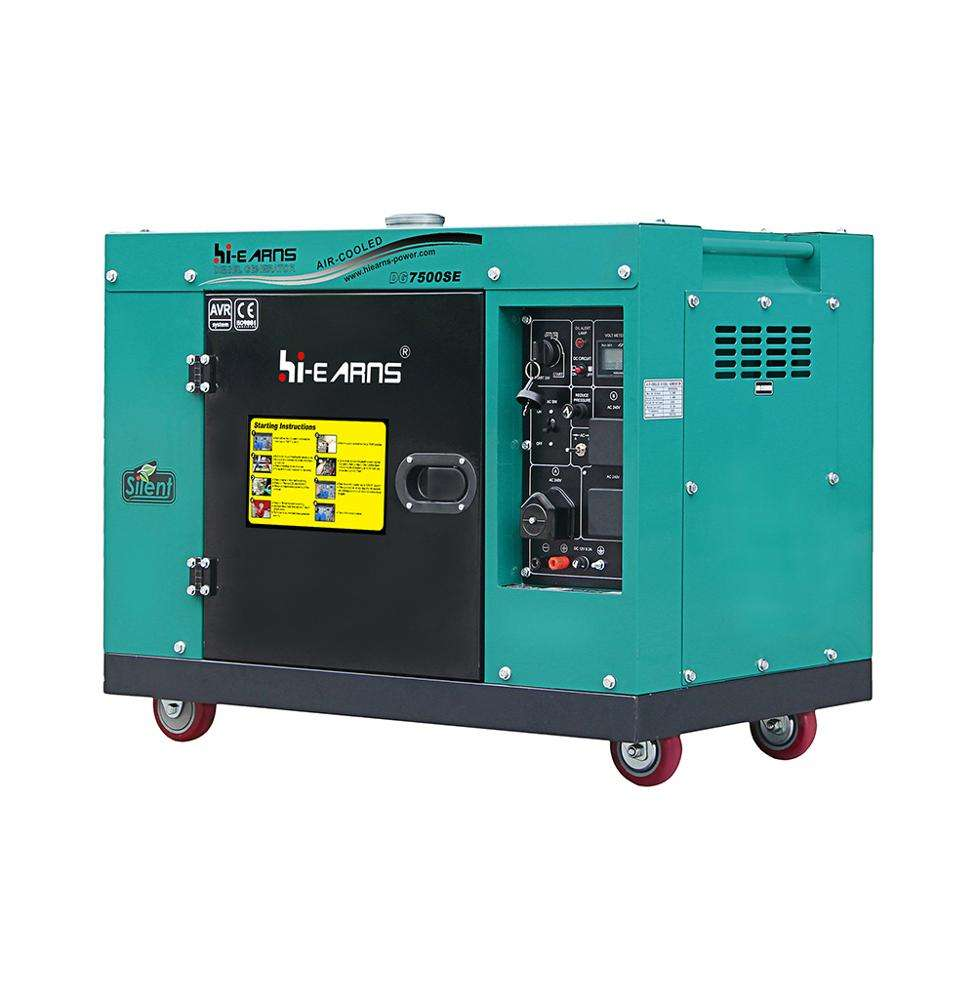 silent portable with wheels home use 10 kva diesel generator