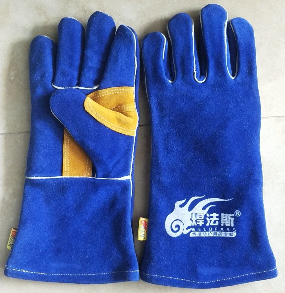 cow split leather welding gloves safety protective hand gloves MIG welder working gloves for metal work