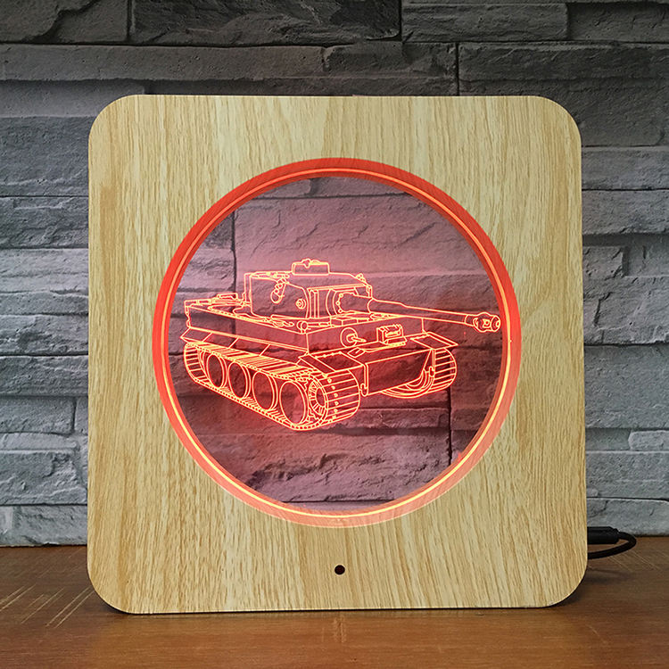 Photo frame OEM 3D illusion LED Night Lamp table desk light safety