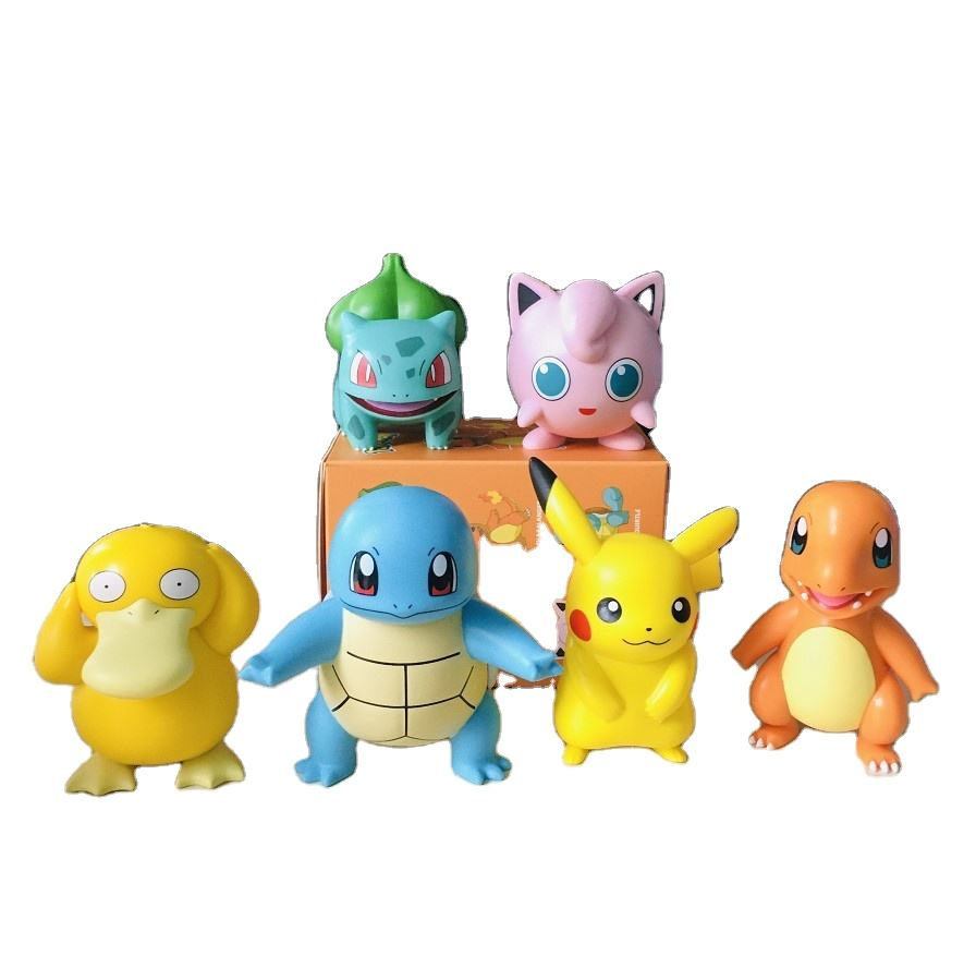 Pokemon go cartoon 10cm Single Chamader Squirtle Jigglypuff, Bulbasaur Psyduck PVC action figure in Blind Box