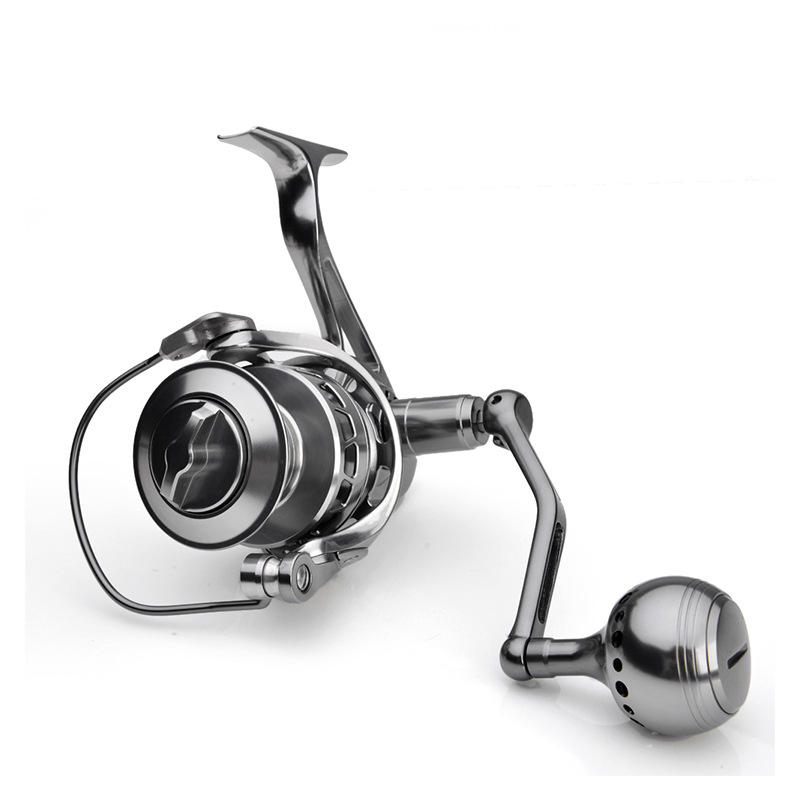 5.5:1 Stainless Steel 5000 spinning Fishing Reel Ocean high strength Cnc Aluminum Master Spinning Slow Pitch Slow Jigging Reel