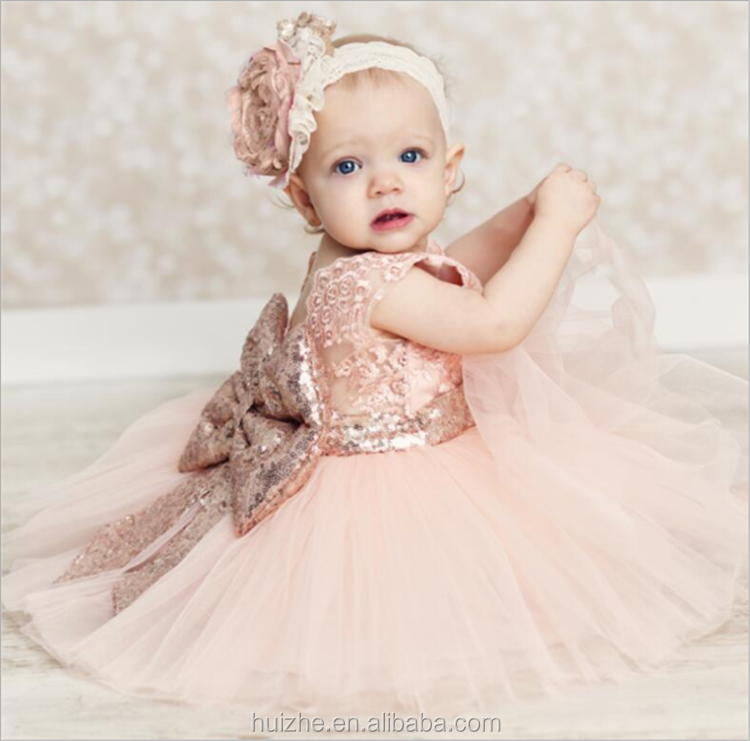 Gorgeous Baby Events Party Wear Tutu Tulle Infant Christening Gowns Children's Bow Princess Dresses Girls Toddler Evening Dress