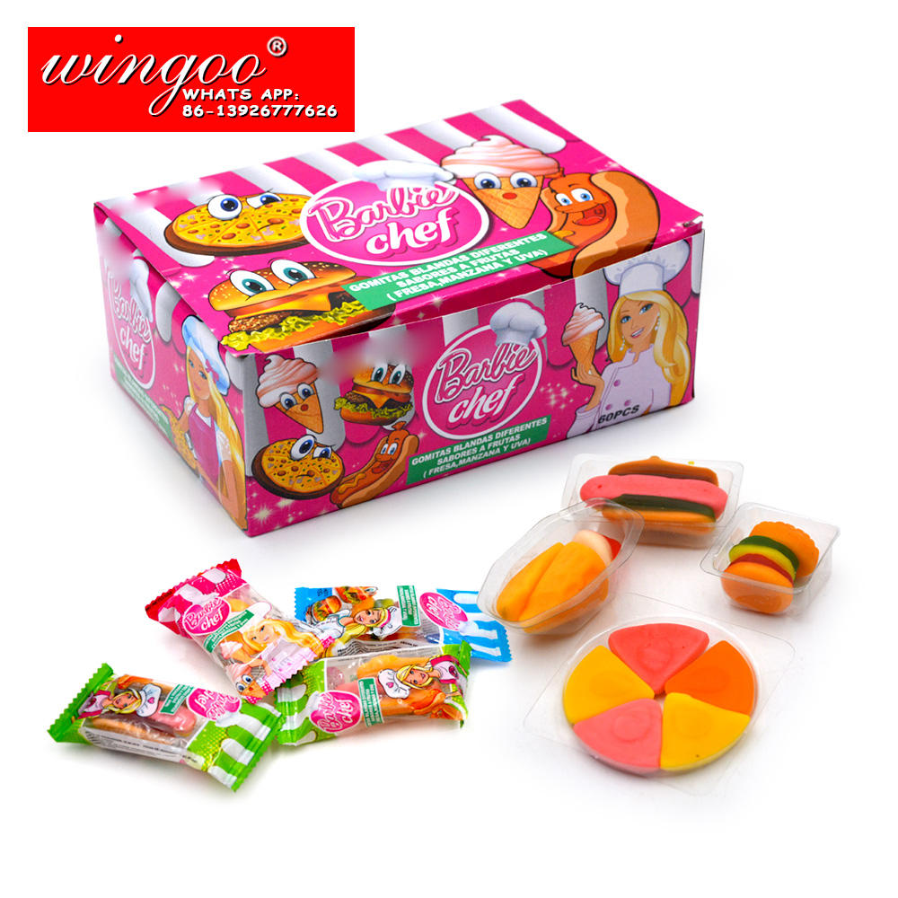 Chinese Delicious Candy Hot Selling Burger Pizza Hot Dog Gummy