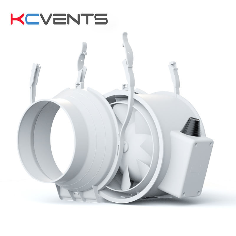 KCvents 6 Inch 150mm Inline Duct Fan 2 Speed Control for Indoor,Bathroom and Grow Tent Ventilation