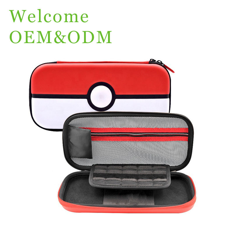 New Arrival For Pokemon Pokeball Design EVA Case Travel Carrying Case for Nintendo Switch and Accessories