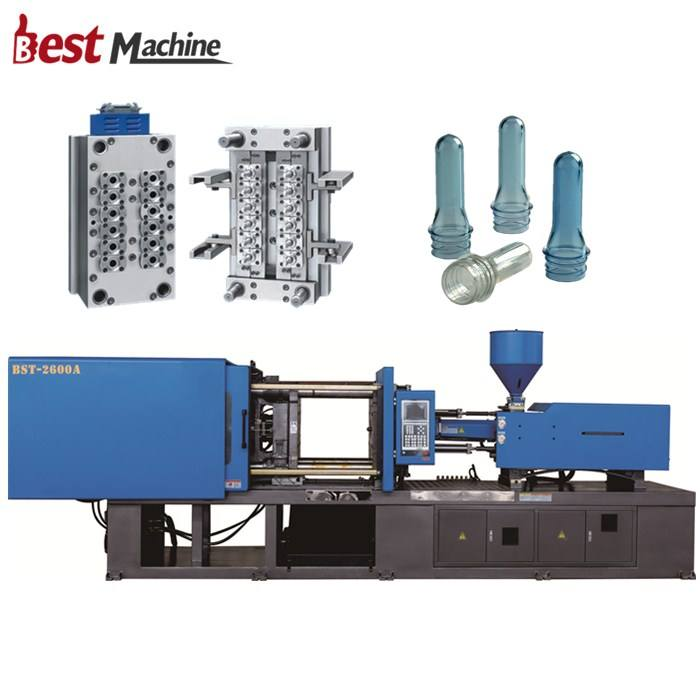 Automatic Plastic PET Preform Injection Molding / Moulding Machine