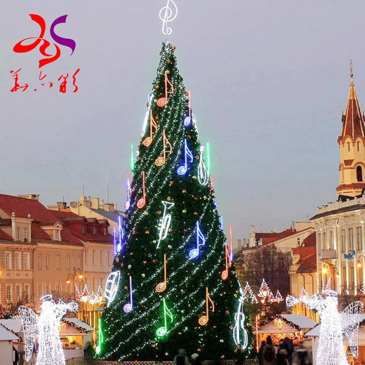 20ft 30ft 40ft 50ft giant outdoor lighting big artificial 10M christmas tree