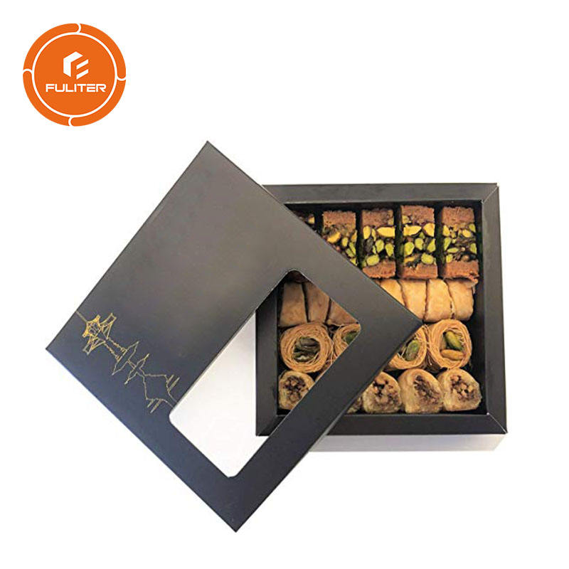 Fancy design tary food sweet chocolate packaging customized luxury food pack box