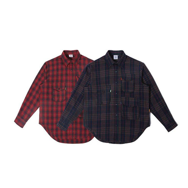 Heavy Weight Brushed checked plaid tartan Mssissi athleisure button up turkish retail Full Sleeves long shirt