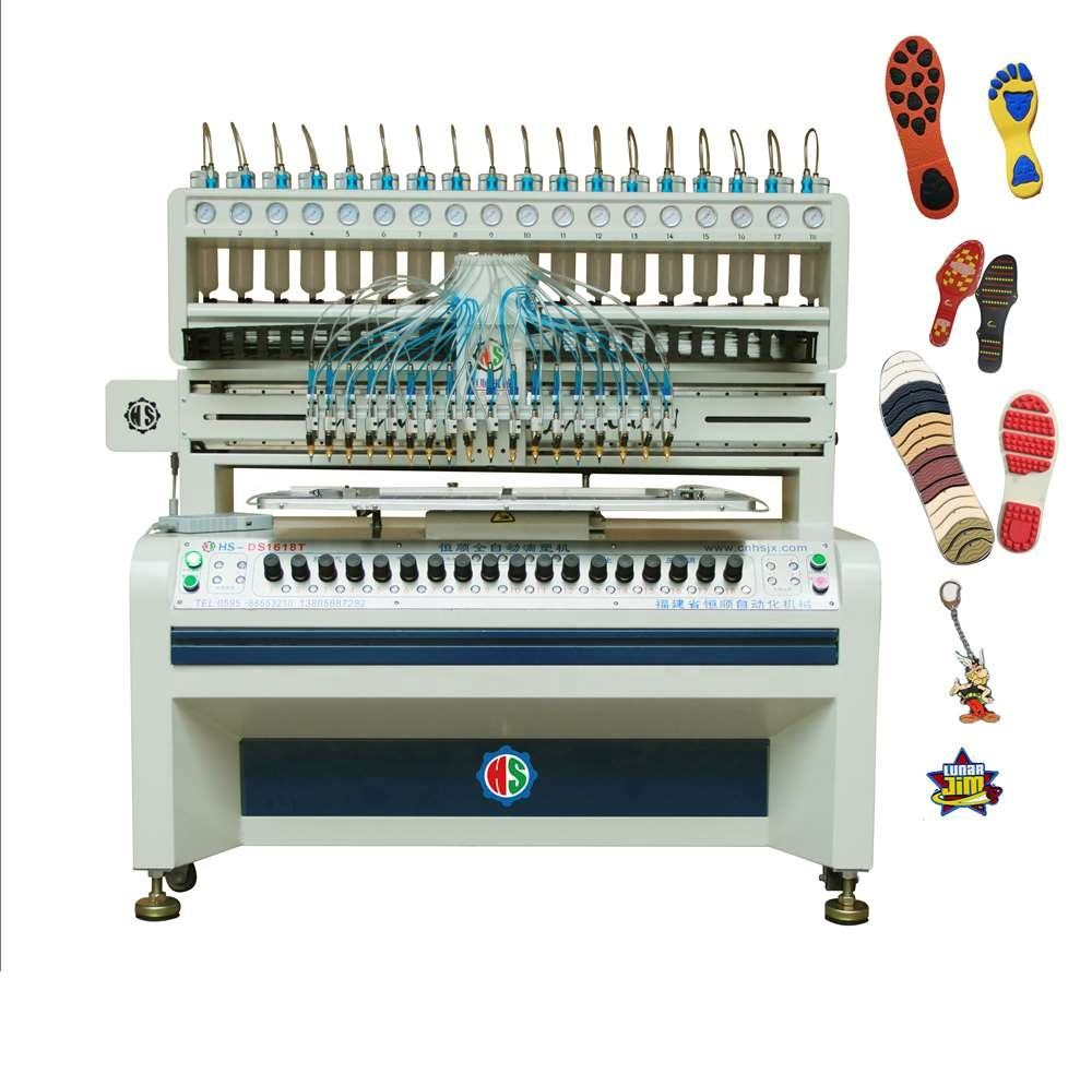 Colorful Rubber micro injection Pvc shoes sole making machine for shoes