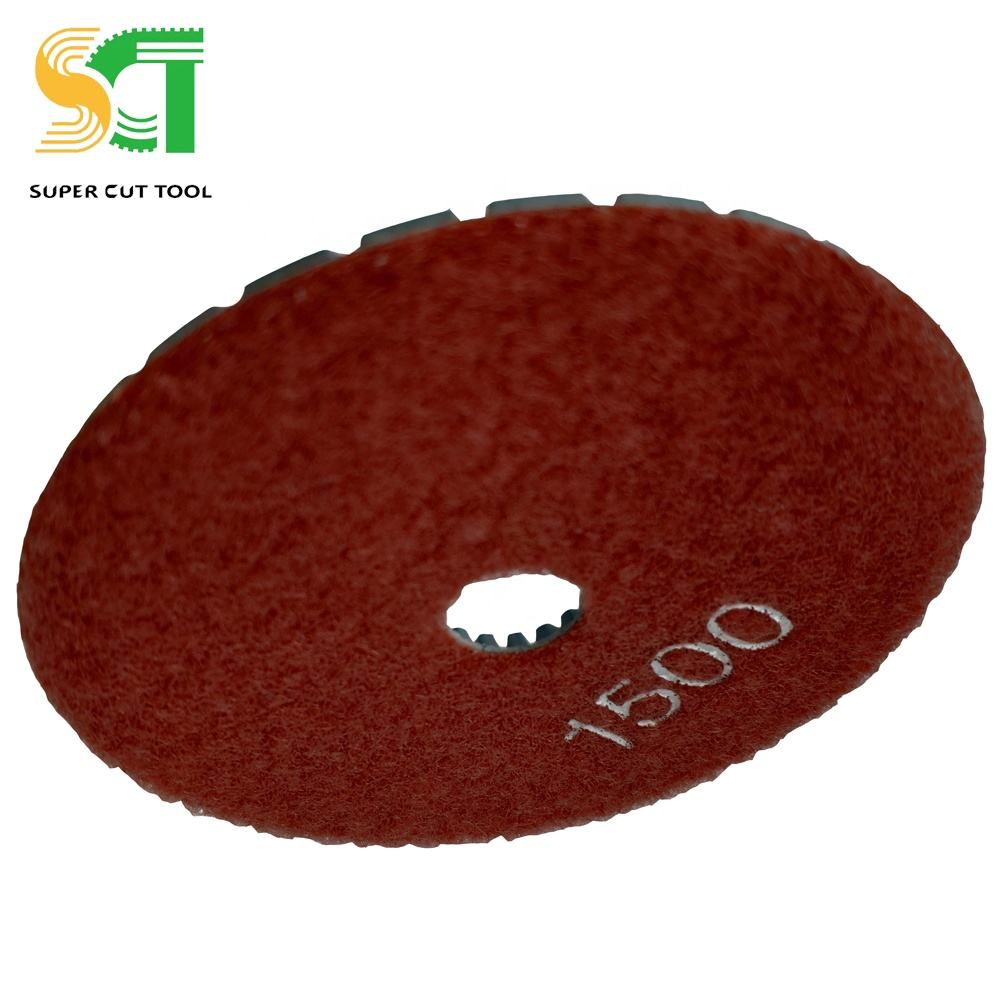 100mm Environmental Protection Marble Countertop Polishing Pads For Stone Tile