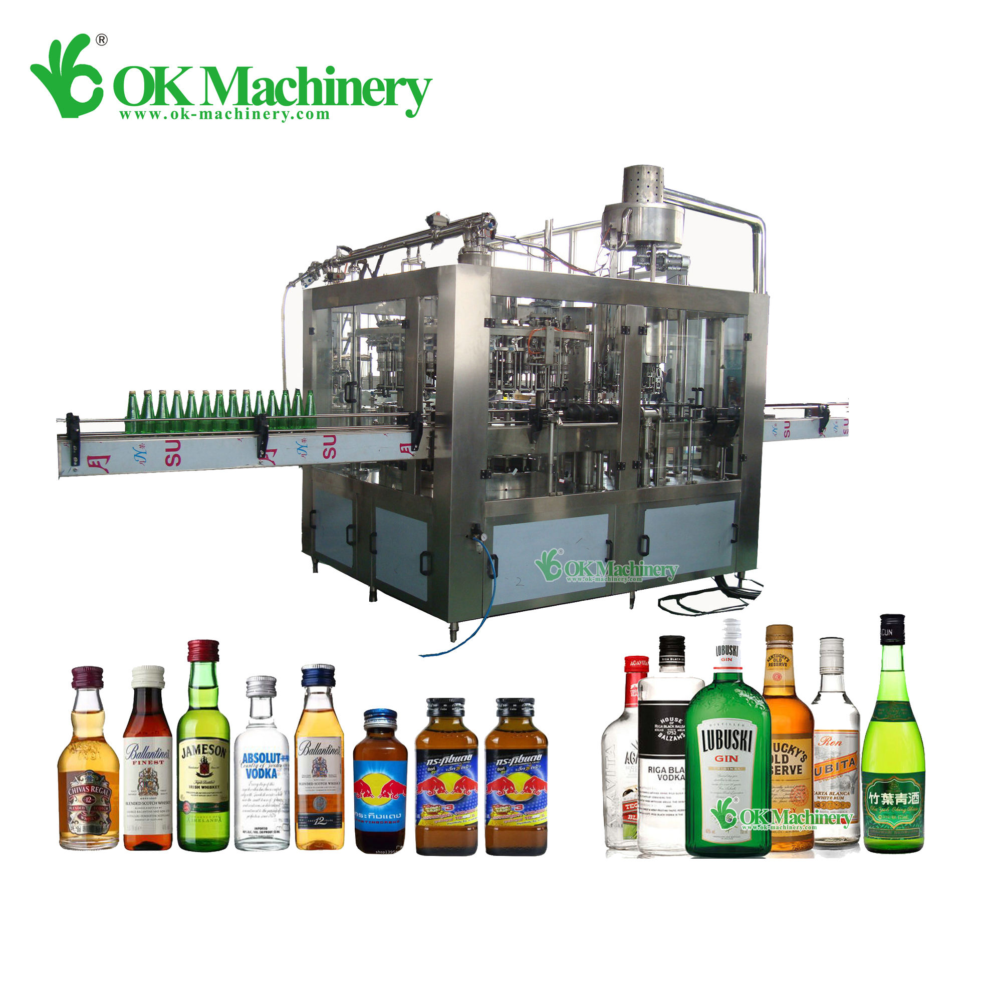 BKCC02 automatic wine bottle labeling machine/wine filling equipment