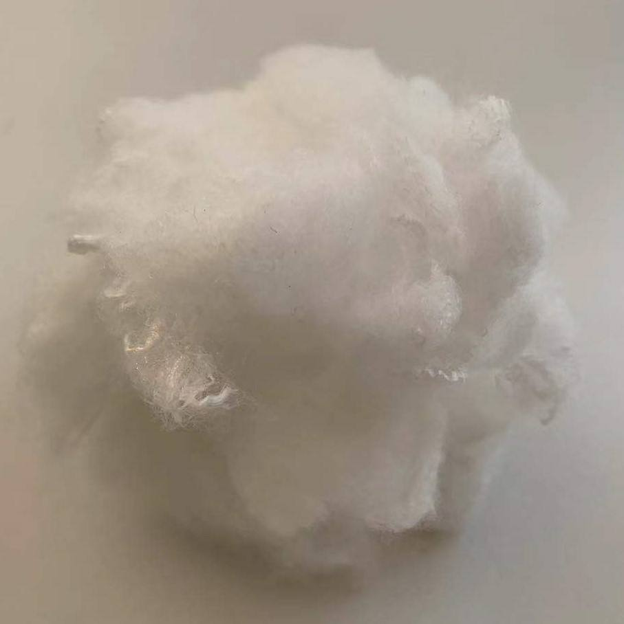 Wholesale white polyester staple fibre in recycled grade and solid style