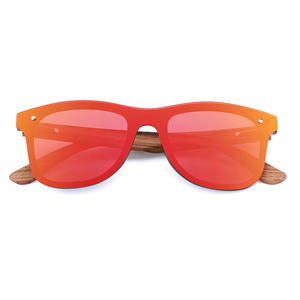 Colorful Integrated Wind Surface Conjoined Mirror Polarized UV400 Bamboo and Wooden Glasses
