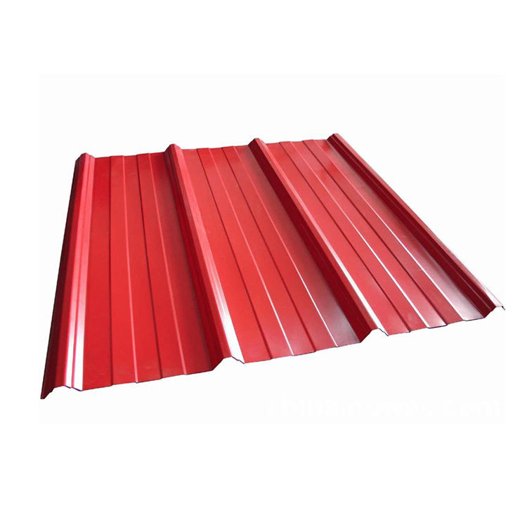 Aluminum galvanized corrugated roofing sheet 24 gauge zinc color coated roof tiles price color steel sheet