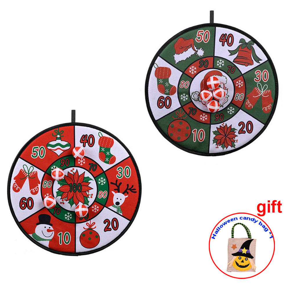 New Merry Ornaments Xmas Children's Games Darts Board Gifts Christmas Toys Party Supplies Give Halloween Gifts