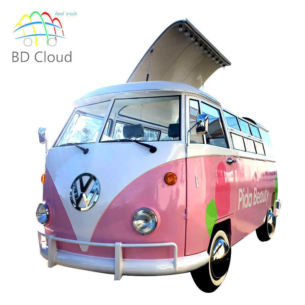 Hot sale vw ice cream food cart mobile coffee food trailer for sale