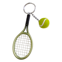Mini Tennis Racket Key Chain Creative Personalized Souvenir Advertising Promotion Small Gifts Tennis Keychain