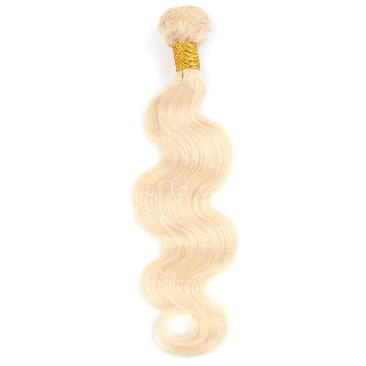 High Quality Body Wave 613# Blonde Hair Extensions,good texture different color hair weaves Cheap virgin remy hair