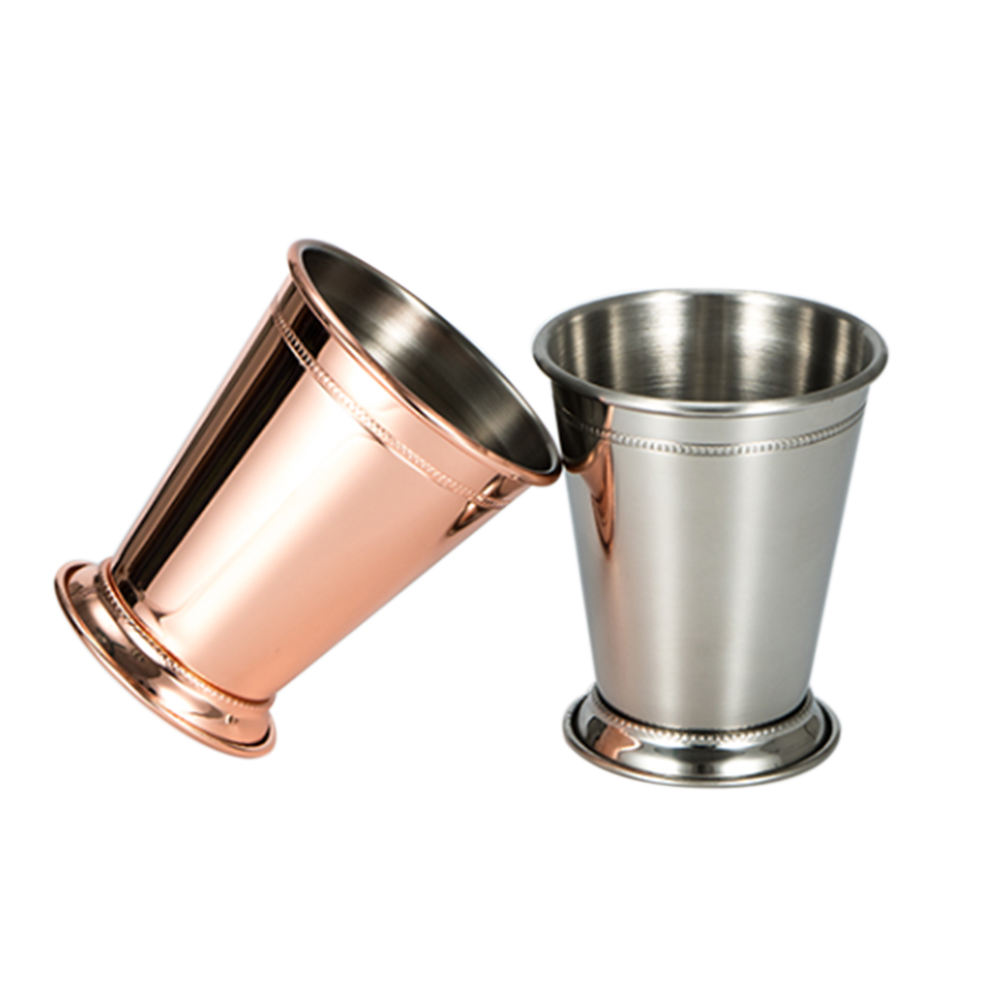 12OZ Amazon hot sale Stainless steel conical cup party solo water beer cup with stander step cup