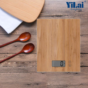 Portable Multifunction 8 Kg bamboo printing effect design small weight scale Weighing Electronic Digital Kitchen Food Scale