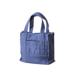 concise style canvas handbag wholesale OEM canvas cross-body bag portable casual canvas tote bag