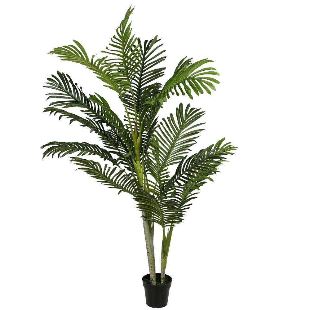 Best selling 150 cm artificial plastic indoor palm bonsai tree factory direct manufacture