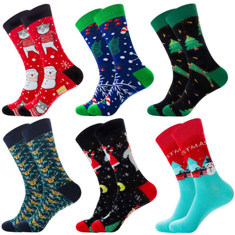 New arrival cheap price warm men Christmas funny socks
