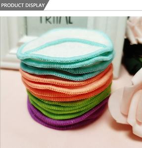 Round Facial Cleaning Pad Washable Finger Style Bamboo Cotton Pads Reusable Cotton Face Makeup Remover Pads