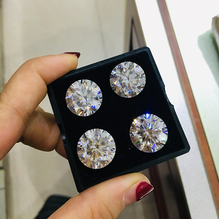 GRA certificate D color VVS1 per pieces price round loose moissanite stones