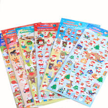 Personalized Holiday Decoration Stickers Cartoon Christmas Sticker for Kids