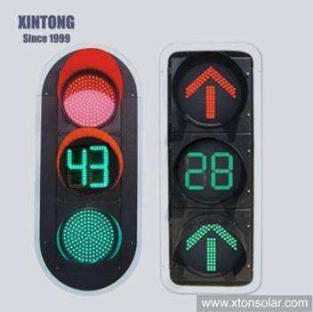 Xintong 200/300/400mm Intelligent LED Traffic Signal Light with Countdown Timer for Vehicle