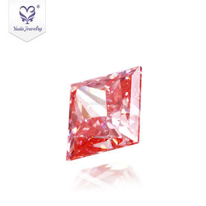 Tianyu Gems 1.299 quilates Princesa Corte Rosa CVD Lab Grown Diamante Fábrica Preço por quilate