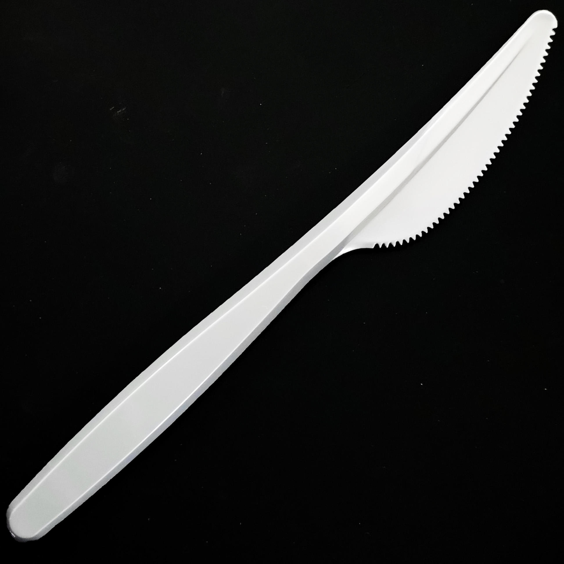 Wholesale PS Promotional Disposable Silver Plastic Knife cutlery