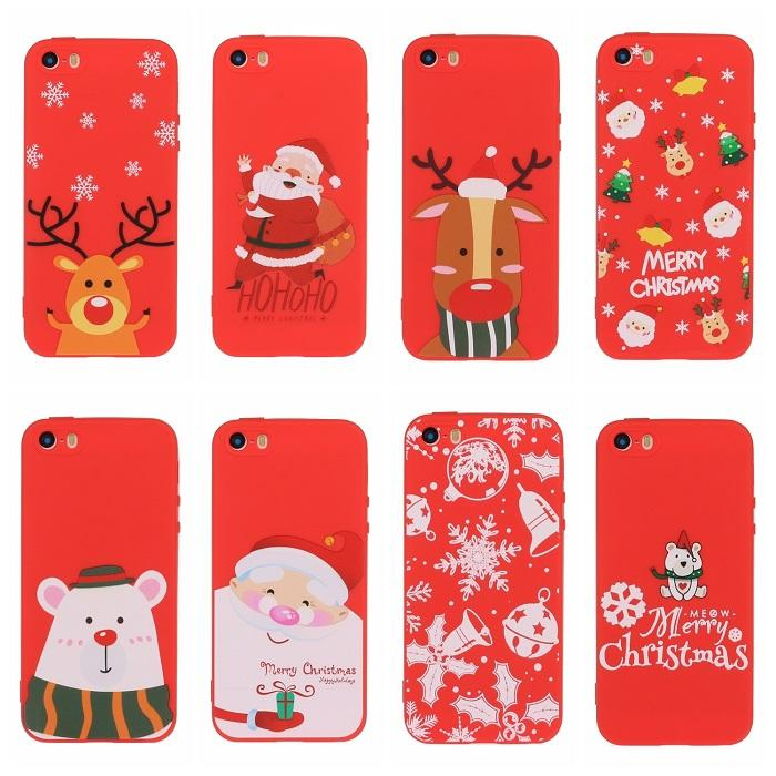 Free Ship 2019 Newest Christmas Santa Claus Gifts TPU PC Cell Phone Cases Cover For Apple X XS XR Max 11 Pro