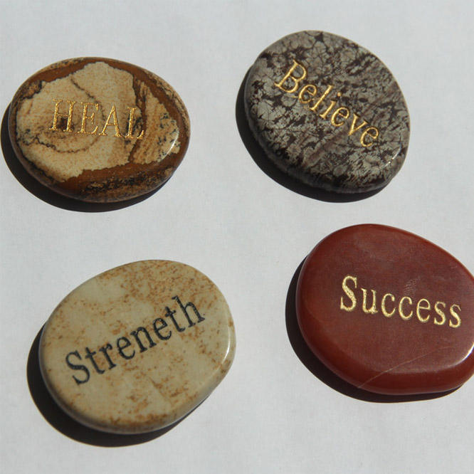 Wholesale Mixed Tumbled Natural Rough Beads Engraved Carving Polished Semi Precious Stones Crafts