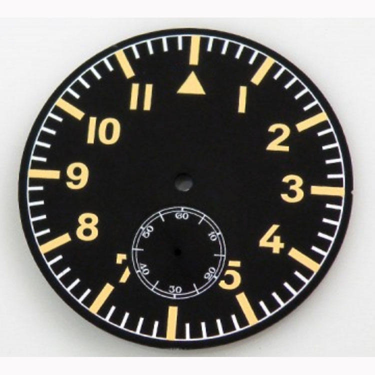 Size Available Custom Your design Matte Black Metal Watch Dial