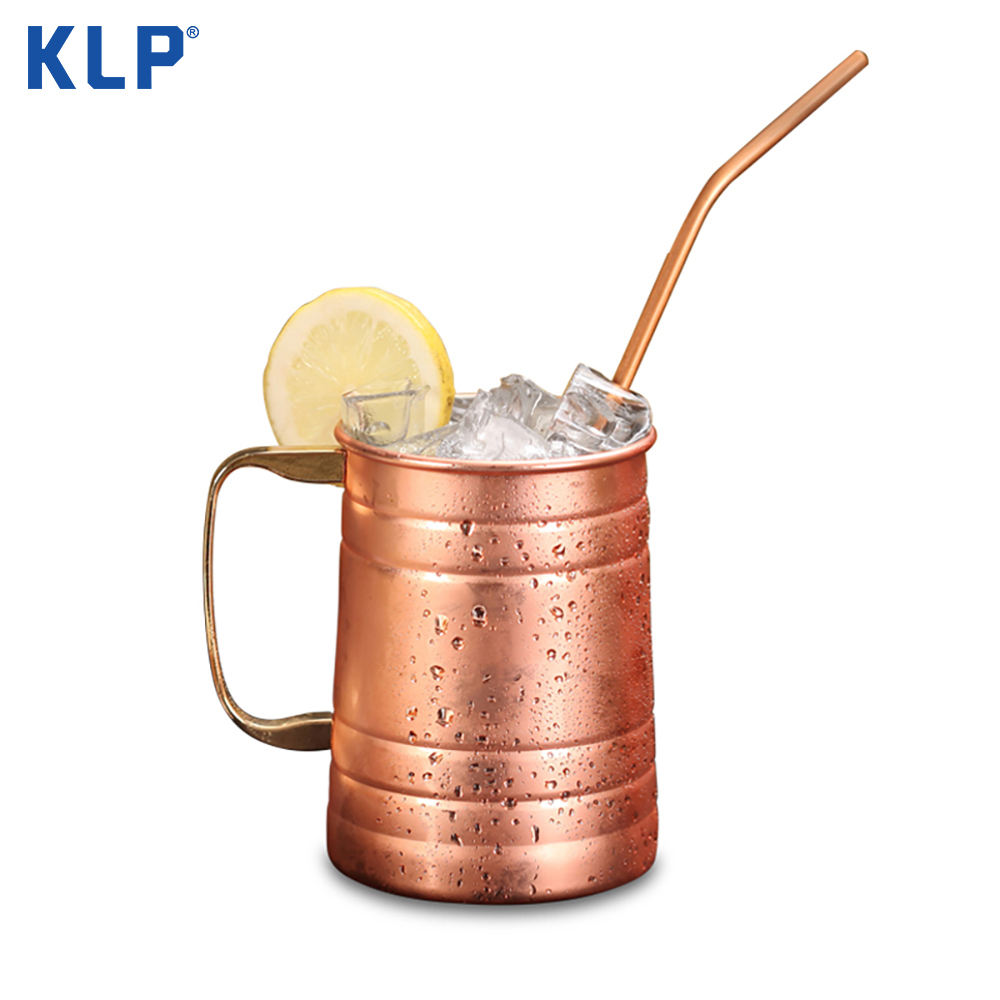 KLP Custom Made 580ML Antique Beer Copper Plated Decorated Drinking Mug