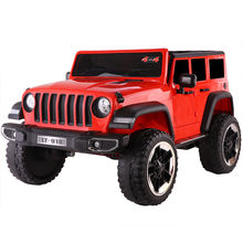 plastic kids ride on car/2.4G remote control 4 wheel toy car/12V rocking ride on toy for children with music, mp3,RED