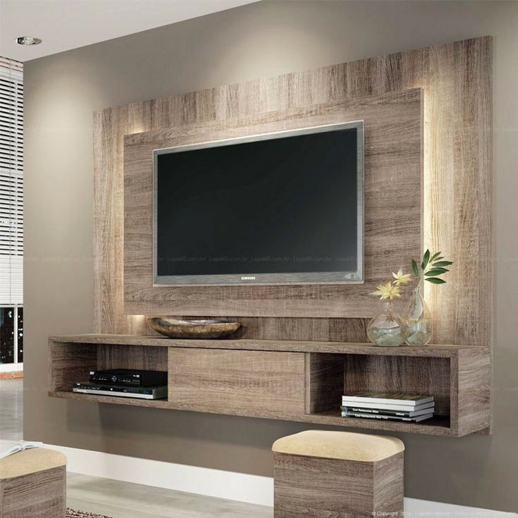 Modern home floating wooden tv cabinets furniture designs living room wall mounted screen tv cabinet design