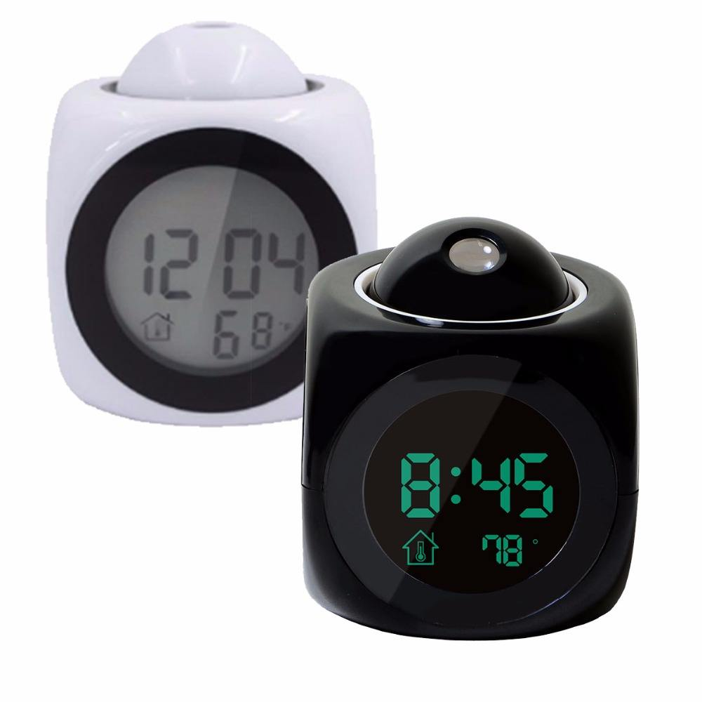 Talking Voice Digital LCD Talking Voice Prompt Projection Weather Station Alarm Clock