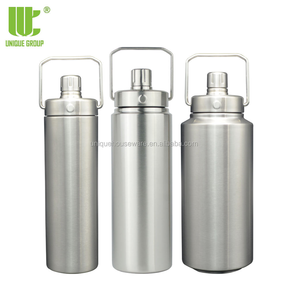 Unique Group 18oz 24oz 32oz New Design Pure Steel Magnet Lid Stainless Steel Vacuum Insulated Sports Water Bottle