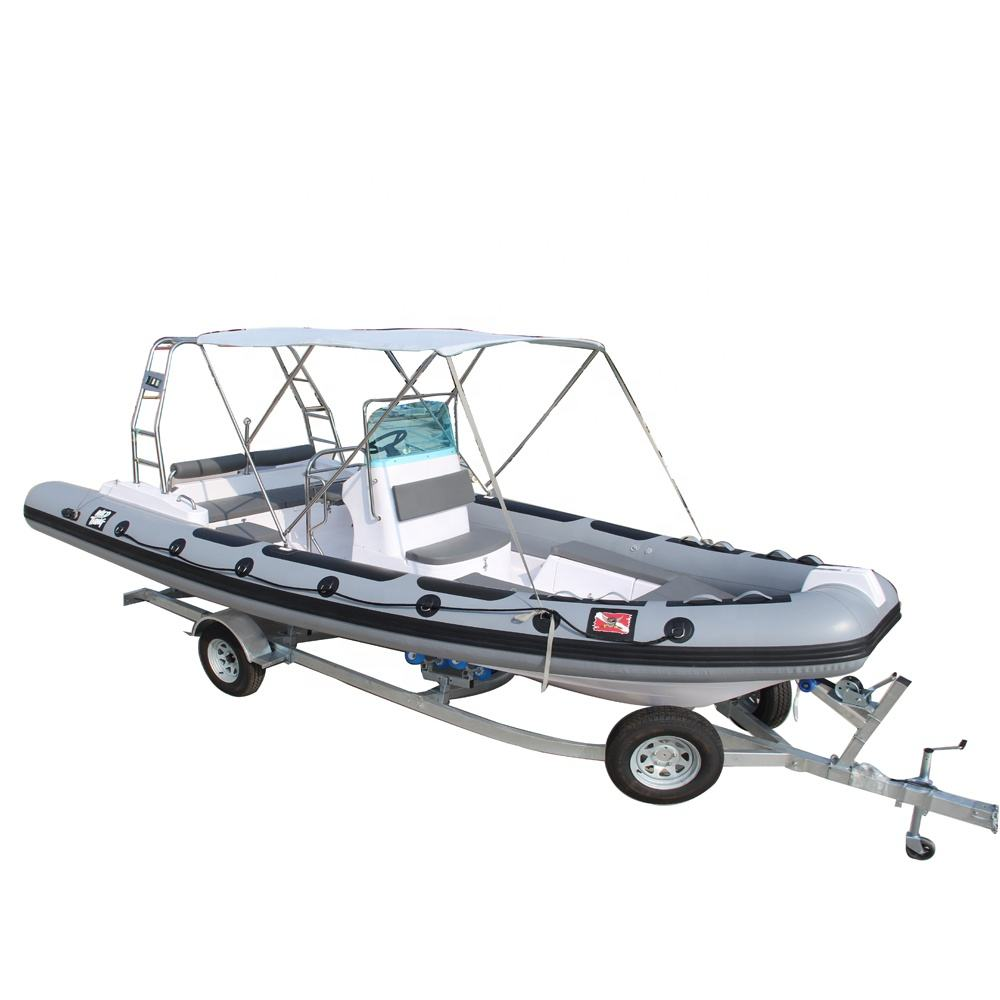 CE approved New design 6.80m inflatable ocean sailing motor boat with outboard engine