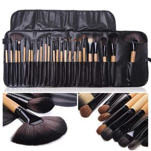 Hot Grosir 24Pcs Blush Powder Make Up Eyeshadow Kuas Kosmetik Alat Kecantikan Kustom Profesional Makeup Brush Set