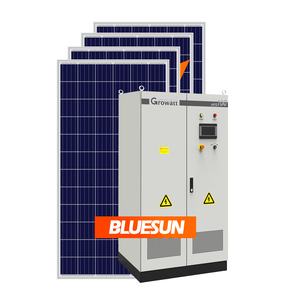Solar Power Plant 1MW Solar System On Grid 1000KW Solar Panel Set Panels Solution Battery Storage System