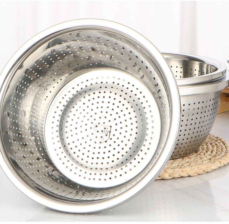 Stainless Steel Colander For Storage Food For Vegetables Container Stainless Steel Gadget