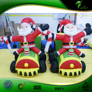 Unique Custom Inflatable Christmas Train /Inflatable Santa Claus For Celebration